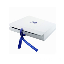 Customized White Folding Paper Gift Box With Ribbon