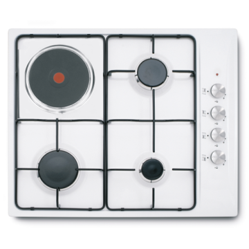 White Gas-Electric Hob Stove 60CM