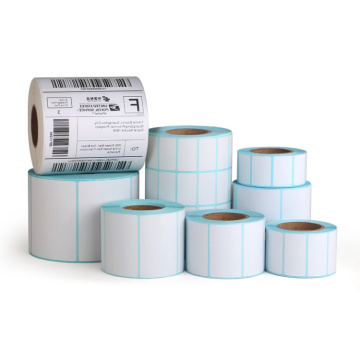Custom Size Adhesive Thermal Paper For Barcode Printer