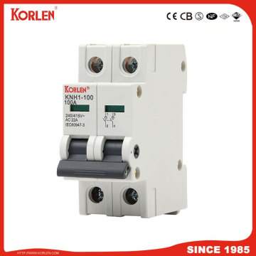 DIN Rail Isolator switch KORLEN KNH1 125A 1p