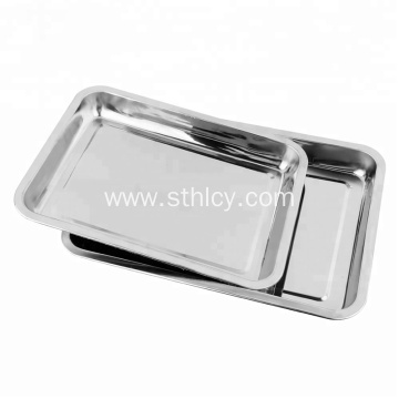 Stainless Steel Buffet Food Serving Tray Silver Plate