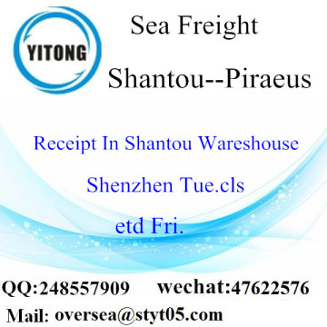 Shantou Port LCL Consolidation To Piraeus