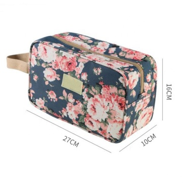 Wholesale Trendy Fashion Floral Printed Cotton Canvas Cosmetic Bag