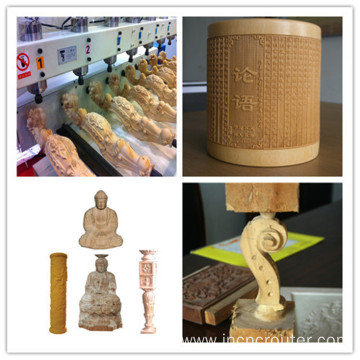 cnc 4 axis wood mdf cutting engraving router