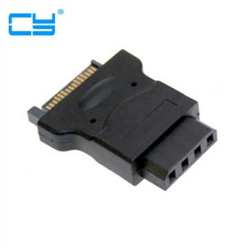 15Pin SATA Male Power Cable to Molex 4-pin IDE Hard Disk Drive Power Adapter