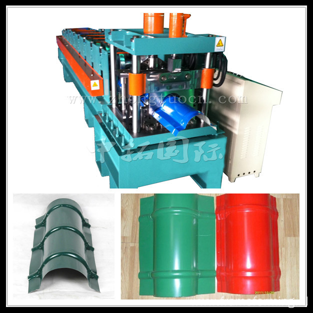 Passed CE and ISO Cap Ridge Roll Forming Machinery