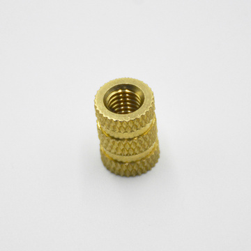 OEM Threaded Knurled Brass Insert Nut For Plastic