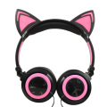 Led Glowing Wired Cat Ear-Kopfhörer für Kinder