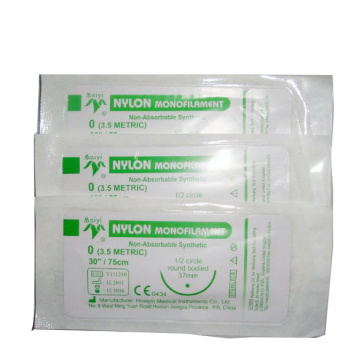 Nylon surgical sutures with needle for hospital
