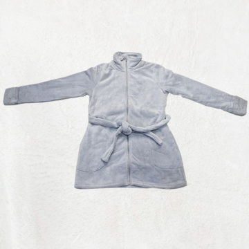 Short and thick grey robe
