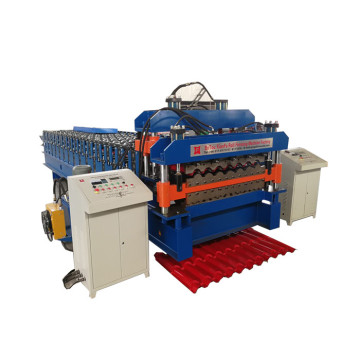 Galvanized Metal Roofing Step Tile Roll Forming Machine