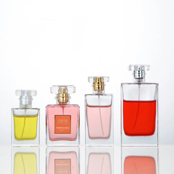 Unleaded glass perfume in separate bottles