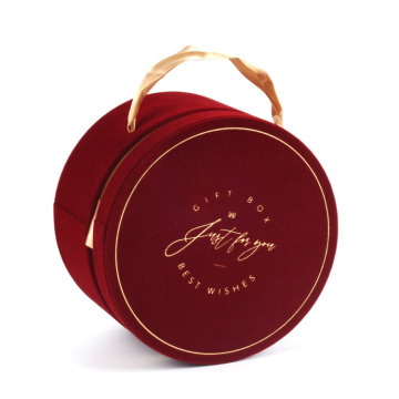 Custom Round Flower Cosmetic Packaging Box with Ribbon