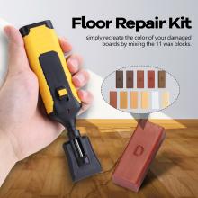 Laminate Repairing Kit Wax System Floor Worktop Sturdy Casing Chips Scratches Mending Tool Set Scratches Laminate Repairing Tool