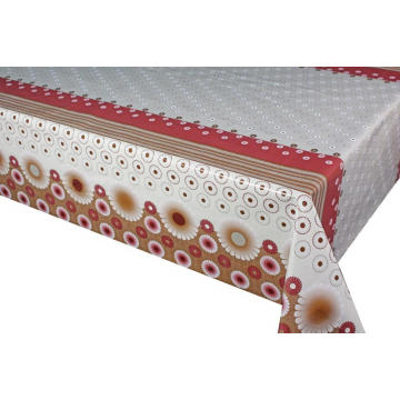Elegant Tablecloth with Non woven backing Thick