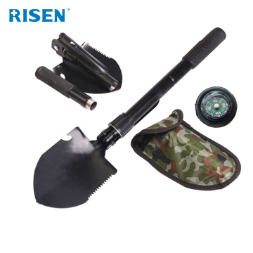 Multifunction camping military folding spade shovel