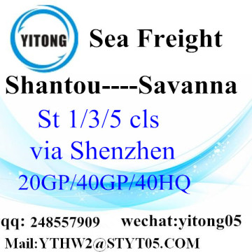 Trucking Service From Shantou to Savanna