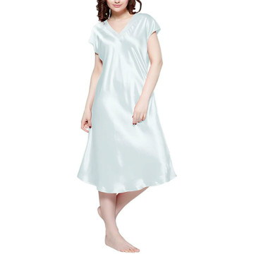 Real Silk Nightgowns Charmeuse Real 19 Momme Silk