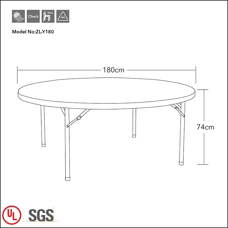 Folding Table for 8 People