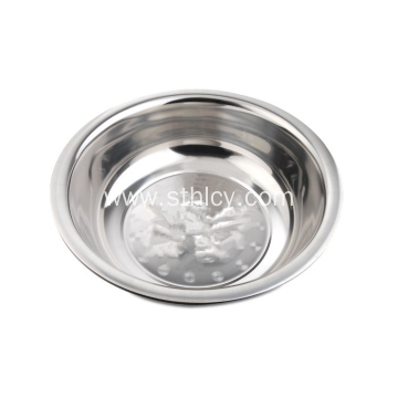 Round Stainless Steel Basin Bowl Soup Basin
