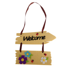 Easter fence shape hanging wall sign