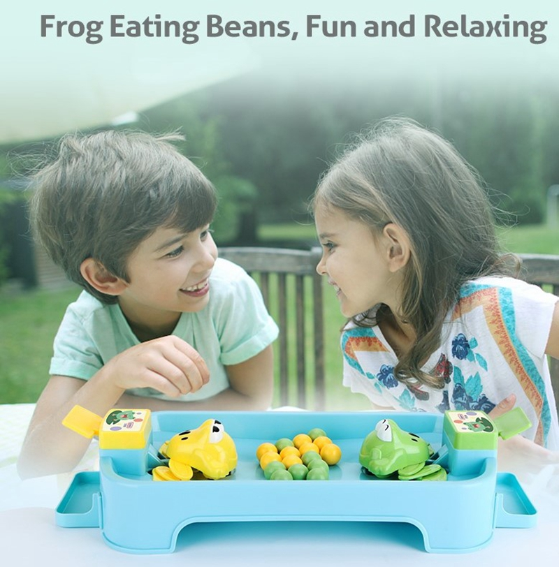 Party Games Table Toys for Children Greedy Frog Eating Bean Toys Broad Games Multiplayer Tnteractive Toy Family Funny Gift A5A