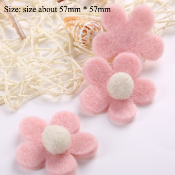 1pcs/lot Wool for felting accessories Mobile phone accessorie flower jewelry, crafts, brooches, clothing accessories wind chimes