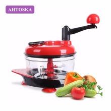 AHTOSKA Multi-function Manual Food Processor Household Meat Grinder Vegetable Chopper Egg Blender Foods Shredder Machin