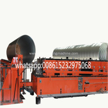 helical corrugated metal pipe culvert machine