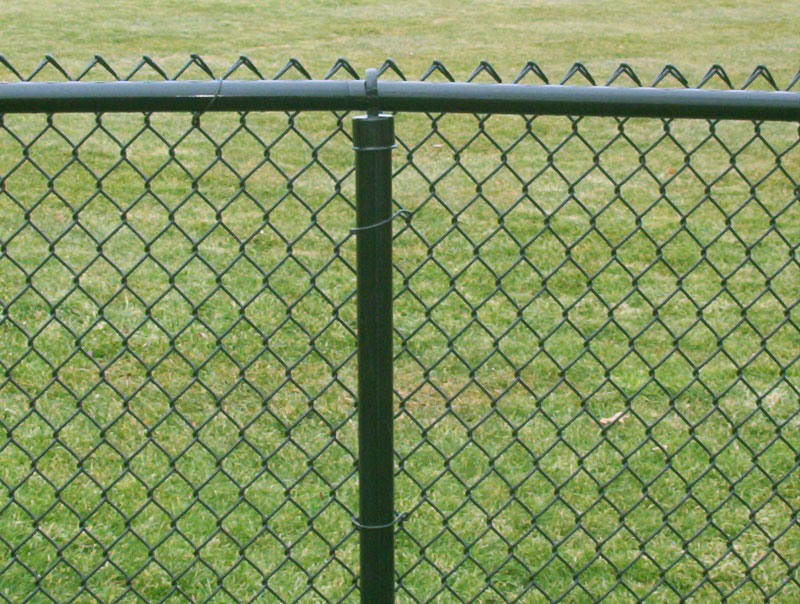 Chain-link-fence-post