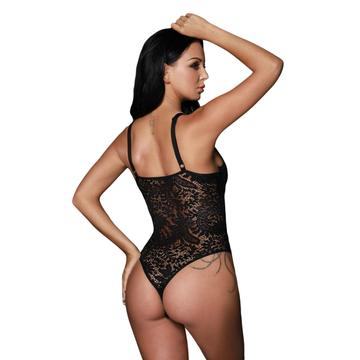 Floral Lace bodysuit lingerie with padded bra