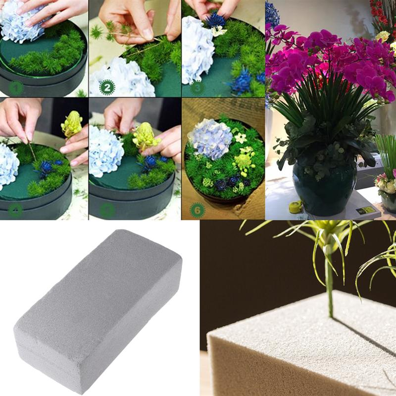 1pc Floral Foam Block Artificial Flower Mud For Fresh Cut Floral Arrangements High Absorbent Sponge Foam Flower Holder 23x10x7cm