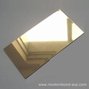 Mirror Gold Aluminium Composite Panel