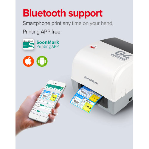Best 4x6 bluetooth thermal transfer shipping label printer