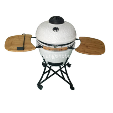 22 Inch Kamado Charcoal Grill With Iron Cart