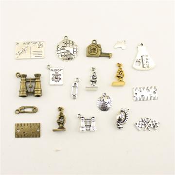 10pcs Charms For Jewelry Making Teaching Globe Telescope Microscope Measurement Accessories Parts Creative Handmade