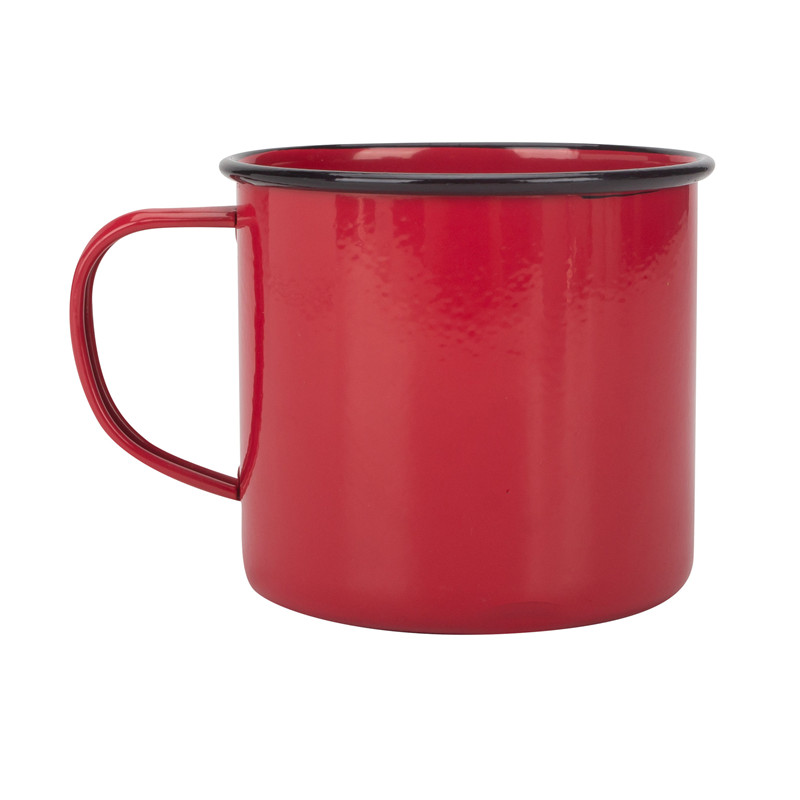 Red Enamel Coffee Mug