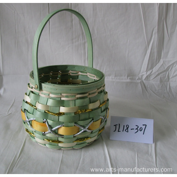 Drum-like Wood Chip Basket