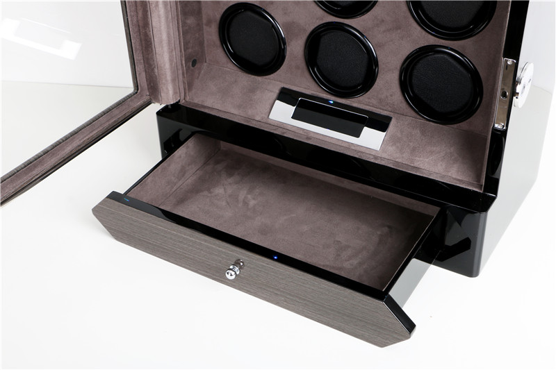 watch winder case with drawer storage