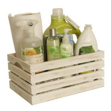 Custom Natural Color Unpainted 6 bottles wine Wooden Small Crate