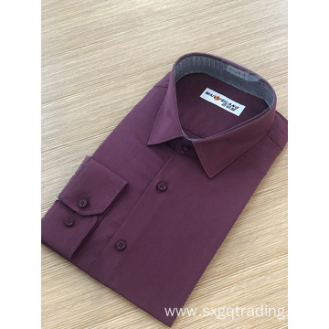 Male twill stand-up collar long sleeve shirt