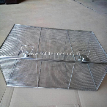 Stainless Steel Wire Mesh Baskets with Lids