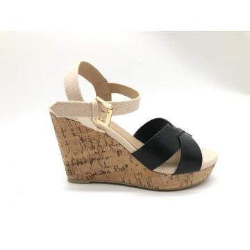Women's Platform Wedge Sandals Summer Shoes with Buckle