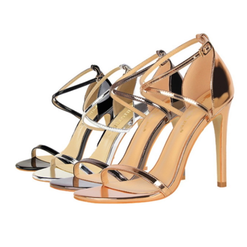 PU summer strap women high heels