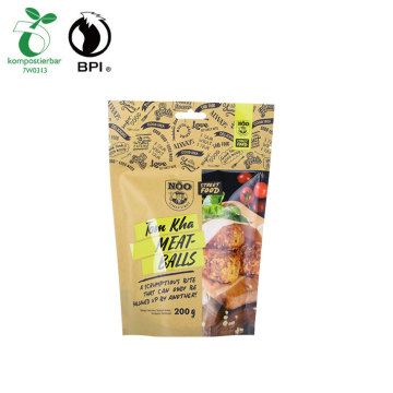 Compostable Standing Food Packaging Bag For Dry Food