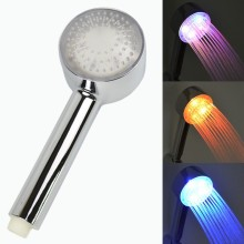LED Chrome ABS High Pressure Hand Shower Head