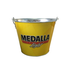 Stainless Galvanized Tin Ice Bucket With Bottle Opener