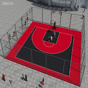 PP portable temporary basketball sports court material