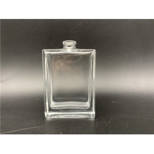 Spray perfume on 50ml flat square glass bottle