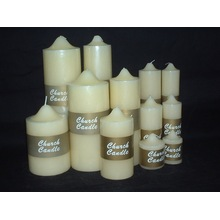 Ivory Unscented Peaked Top Church Candle